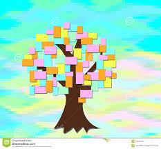 arbre feuilles papier