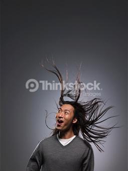 cheveux vent