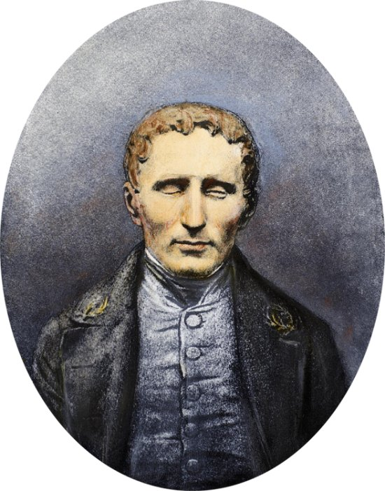 Louis-Braille lithographie
